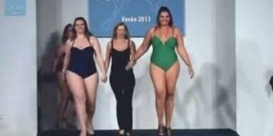 Plus-Size Models auf dem Laufsteg