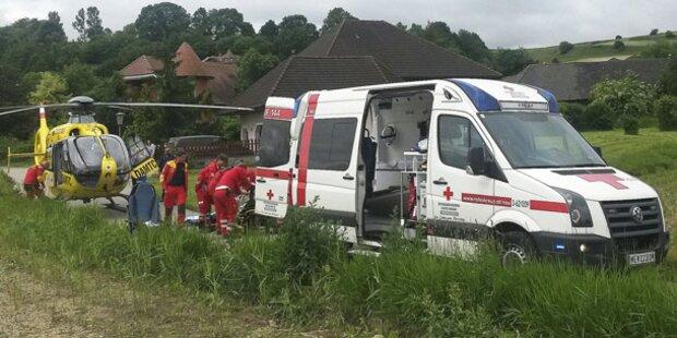 Explosion: Heimwerker schwer verletzt