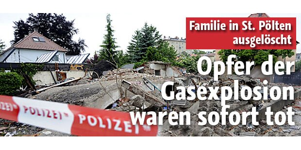 Opfer der Gas-Explosion waren sofort tot