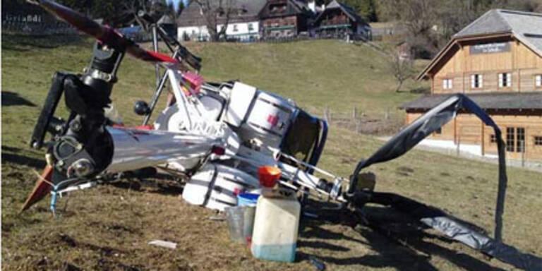 Hubschrauber-Unfall am Pogusch