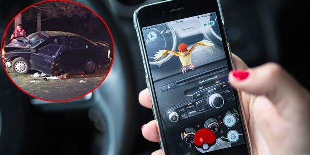 Pokémon-Go-Spieler rammte Baum mit Auto