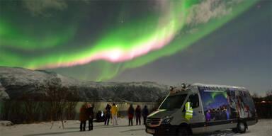 Faszinierendes Polarlicht über Norwegen