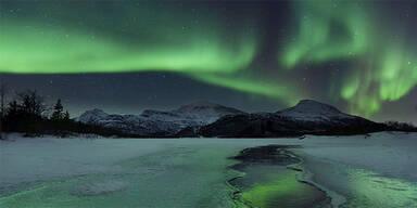 Polarlicht über Österreich