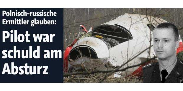 Pilot war Schuld an Kaczynski-Absturz