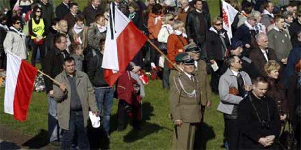 Hunderttausende Polen trauern um Kacynski