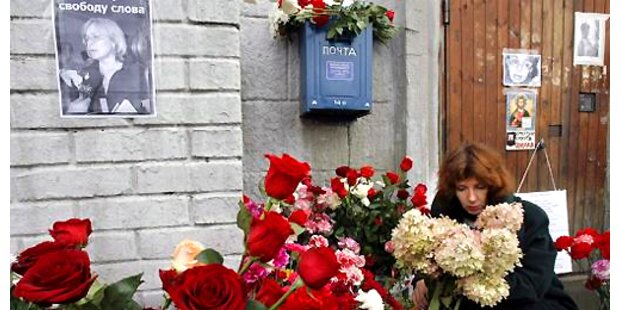 Russland gedenkt Politkowskajas