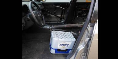 Polizei stoppte Fahrer mit Bierkiste statt Autositz