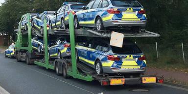 Kurios: Polizei stoppte Polizei-Transporter