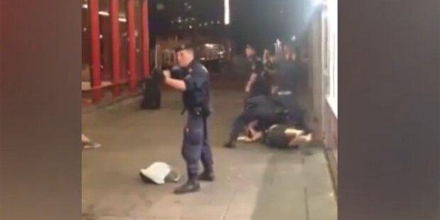 Video zeigt Polizei-Einsatz am Praterstern