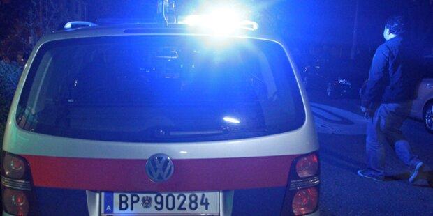 Alko-Lenkerin schoss Rettungsauto ab