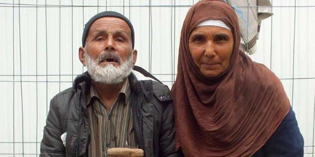 110-jähriger Flüchtling angekommen
