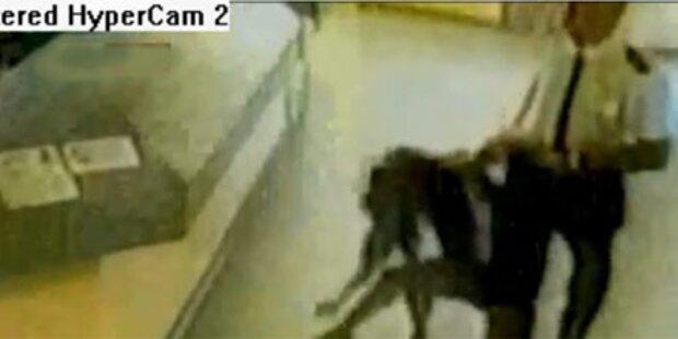 Brutaler Polizist schockiert Briten