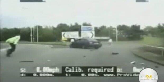 Polizist von Raser niedergefahren