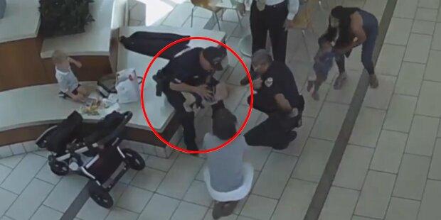 Mutiger Polizist rettet Baby vorm Ersticken