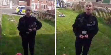 Polizistin lässt Familie nicht im hauseigenen Garten spielen