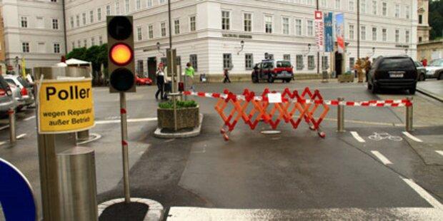 Salzburg: Tourist fuhr Poller zu Schrott
