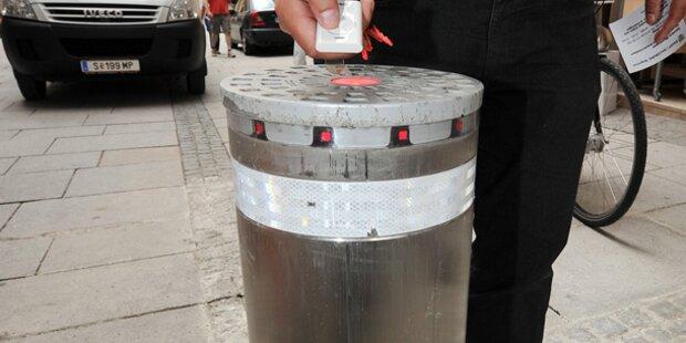 Poller von betrunkener Radlerin gerammt