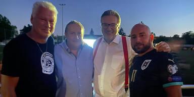 Toni Polster mit Seiler, Hacker und Zeidler