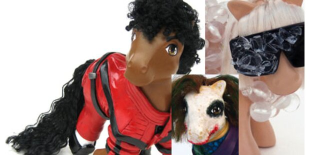 Jackson, Lady Gaga und Co. als Ponys!