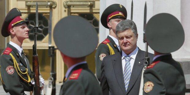 Poroschenko kündigt Waffenruhe an