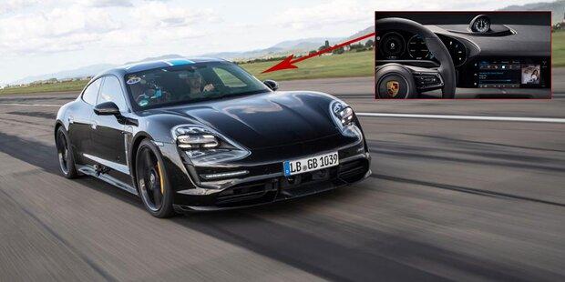 Porsche zeigt Cockpit des Taycan