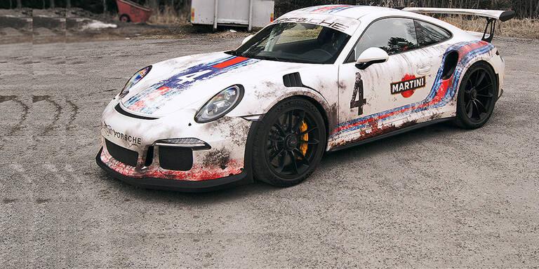 Folie verleiht Porsche 911 Rallye-Look