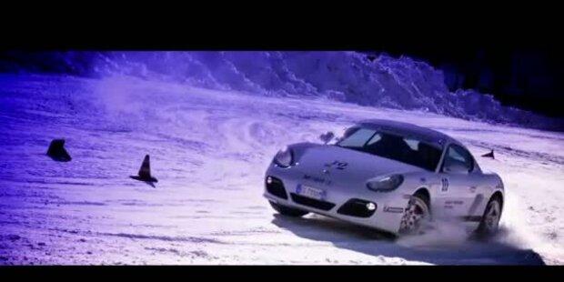Porsche-Fahrkurs im Schnee