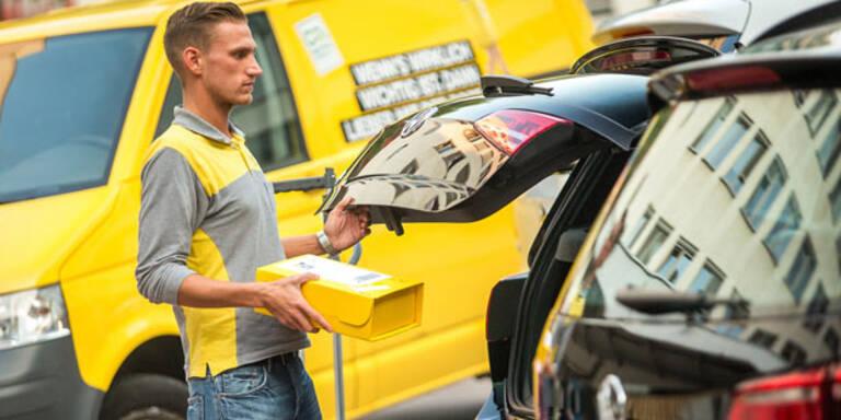 Post liefert jetzt in Auto-Kofferraum