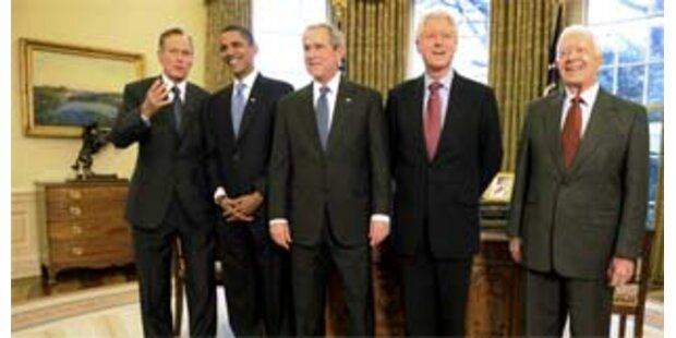 Obama beim Abendessen mit 4 Ex-Präsidenten
