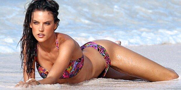 Alessandra Ambrosio zeigt ihre heiße Seite
