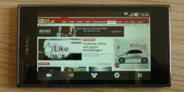 Prada-Phone 3.0 mit Android im oe24.at-Test
