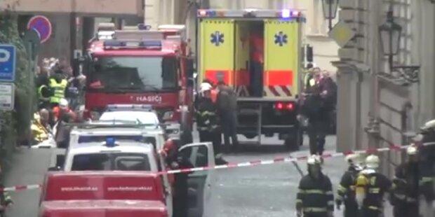 Explosion mitten in Prag