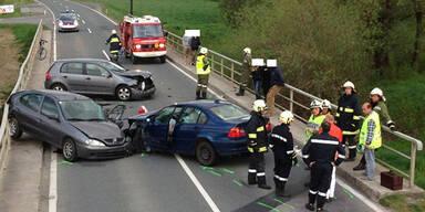 4 Verletzte bei Verkehrsunfall bei Preding
