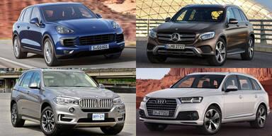 SUV-Boom bei Audi, BMW, Porsche & Mercedes