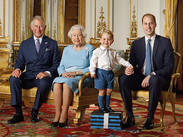Prinz George, William, Charles, Queen, Briefmarke