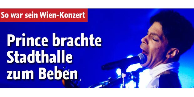 Prince in Wien: Stadthalle bebte