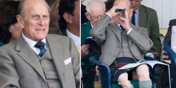 Enthüllt: Prinz Philip trägt nichts drunter