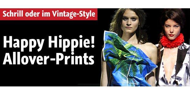 Vintage oder knallig: Allover-Prints