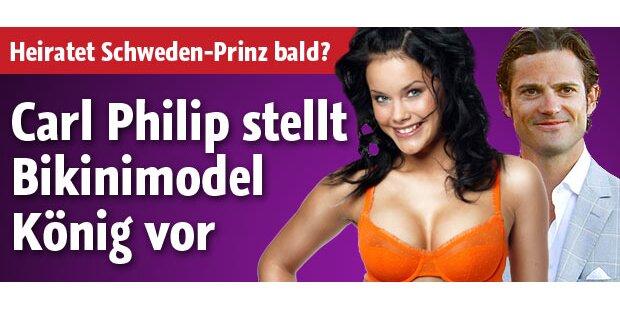 Carl Philip stellt Bikinimodel König vor