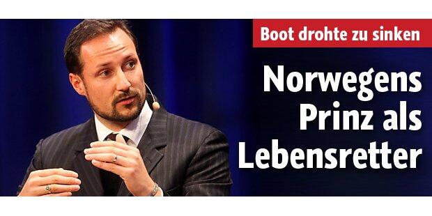 Norwegens Kronprinz als Lebensretter