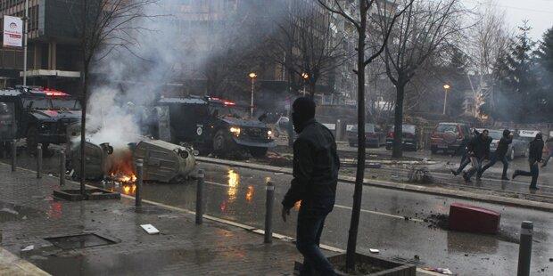 80 Verletzte bei Protesten im Kosovo
