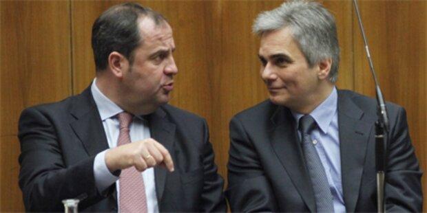 Oppositionsbeschuss gegen das Budget