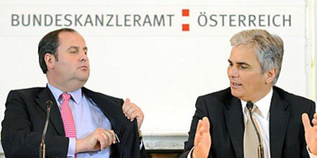 Koalitionskrach: Faymann & Pröll im Clinch
