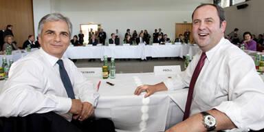 Budget: Faymann und Pröll auf Zielgeraden