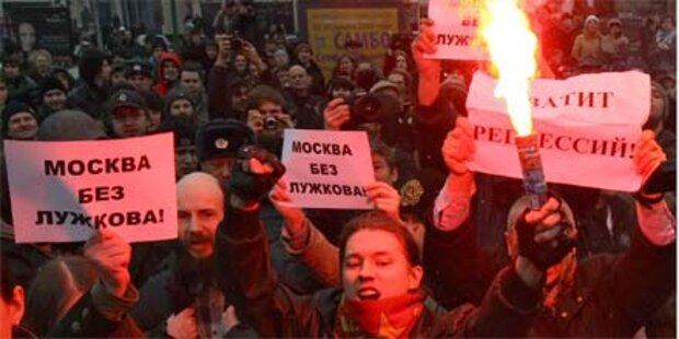 Proteste gegen russische Regierung