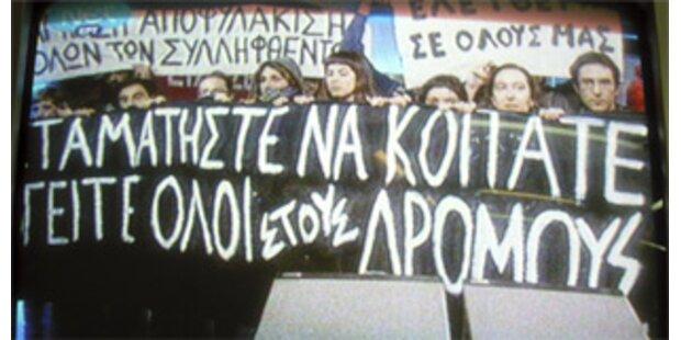 Jugendliche stürmten TV-Sender in Athen