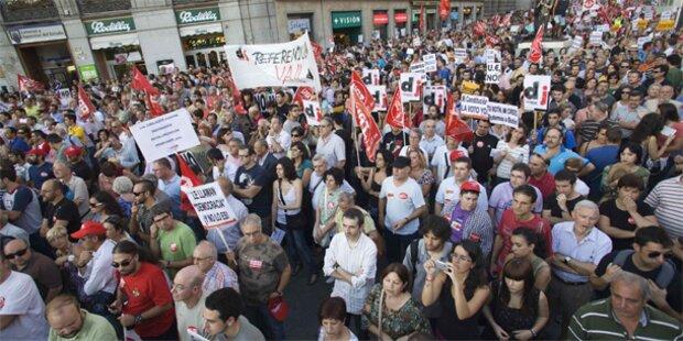 Massenproteste gegen Spaniens Sparpaket