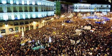 Spanien: Proteste trotz Demo-Verbot