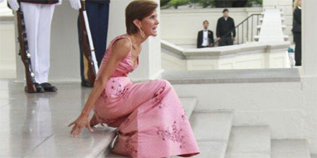 Peinlicher Treppensturz vor Weißem Haus