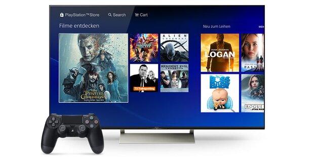 PS4-Besitzer können jetzt Filme streamen